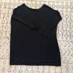Tops - long tunic shirt/dress boat neck